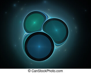 Image molecules and atoms - Elementary Particles series....