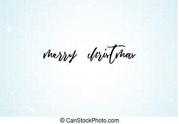 Christmas clean background, banner, with snow and lettering