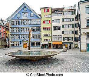 Zurich in Switzerland - city view of Zurich, the largest...