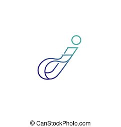 Creative logo icon, typography, small letter j