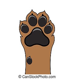 Paw dog up pet vector