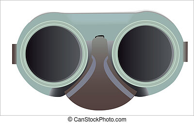goggles - Welding goggles in the vector