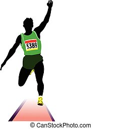 Athletics The long jumping Sport Vector illustration