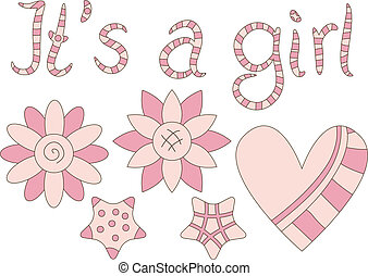 Its a Girl - graphics and text - Its a Girl - cute graphics...