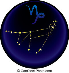 Zodiac Capricorn Sign - Capricorn constellation plus the...