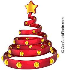 rosso, Natale, albero, stilizzato