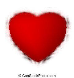 Halftone heart. EPS 8