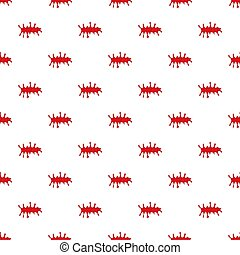 Pool of blood pattern seamless repeat in cartoon style...