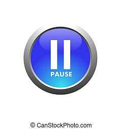 pause - This is a image of web button for web design