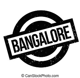 Bangalore rubber stamp. Grunge design with dust scratches....