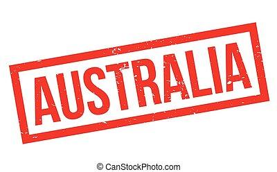 Australia rubber stamp. Grunge design with dust scratches....