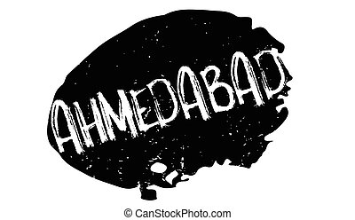 Ahmedabad rubber stamp. Grunge design with dust scratches....