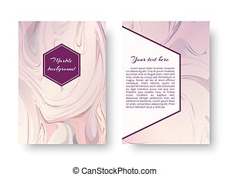 Greeting card with a watercolor pattern - A postcard...