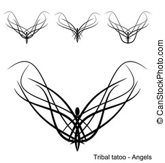 Tatoo - Angels - A set of tatoo - Angels