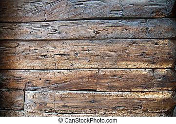 bois, mur, vieux