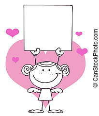 Outlined Female Stick Cupid
