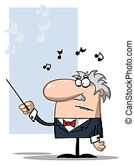 Conductor Holds Baton