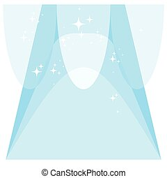 clean background blue - Flat vector cartoon illustration....