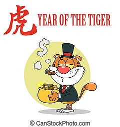 Rich Tiger Cartoon Character