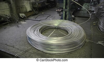Production of metal wire - Manufacture of metal wire on a...