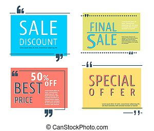 Colored sale square template - Sale square template set....