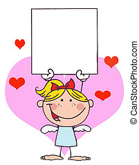 Cartoon Stick Cupid Girl