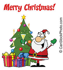 Holiday Greetings With Santa Claus