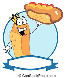King Hot Dog Showing XXL Hot Dog - King Hot Dog Holding Up A...