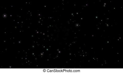 Movement through space and shiny stars video animation -...