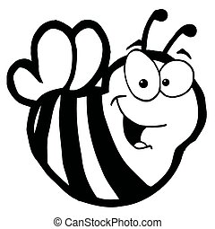 Black And White Smiling Bee