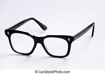 Nerd eyeglasses - Thick black frames, geeky eyeglasses