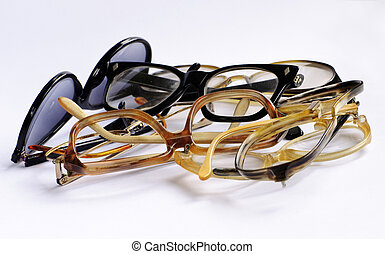 Bunch of old eyeglasses - Bunch of old intertwined glasses