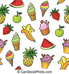 Pop art style seamless background - Seamless background with...