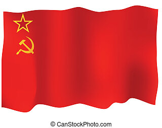 Ussr Flag - USSR flag Vector illustration Isolated on white...
