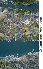 The Gorge River in Heifer Station, New South Wales shot from...
