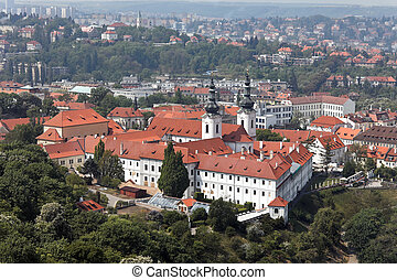 Prague City View from Petrin lookout tower - View from the...