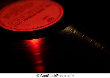 Spinning Vinyl Record - Detail Blury Spinning Vinyl Record...