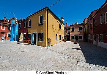 Italy, Venice. Burano - The lovely city of Venice in Italy....