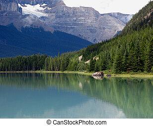 Tranquil Mountain Lake.