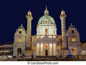 Church Karlskirche in Vienna Austria - cityscape...