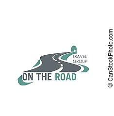 Travel group road tourism vector highway icon - Road icon...