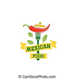 Chili pepper jalapeno Mexican food vector icon - Mexican...