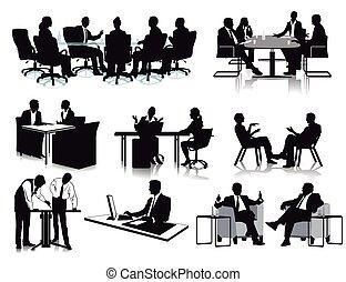 Menschen im Buro.eps - Business meeting discussion,...