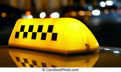 Taxi symbol traffic city - Sighn symbol of taxi cab on road...