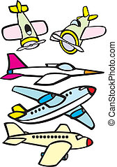 Mixed Toy Aircraft - Mix set of toy like simple aircraft