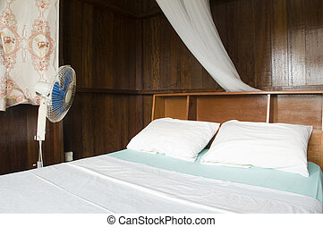 budget guest house room with mosquito net bequia st. vincent...