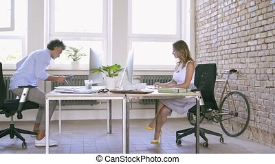 Business people in the office working together. - Business...