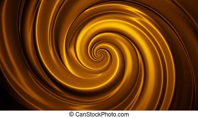 Abstract warping background golden color