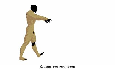 Male Mummy - Male mummy on a white background