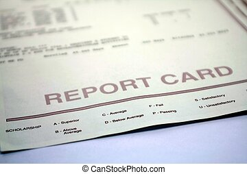 Report Card for Student on White - Report card form for...